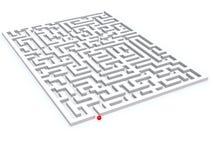 Labyrint royalty-vrije stock afbeelding
