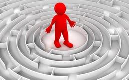 Labyrint aan de Mens Royalty-vrije Stock Afbeelding