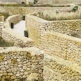 Labyrint av gator i citadell Arkivfoton