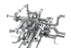labyrint 3d av rörsystemet Stock Illustrationer
