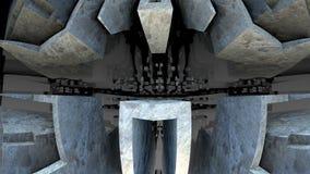 labyrint 3D eller labyrint Arkivbild