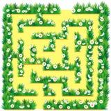 Labyrint in de tuin Stock Foto