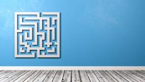 Labyrint in de Zaal met Exemplaarruimte Stock Afbeeldingen