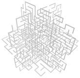 Labyrint Drie Vliegtuigen Witte Samenvatting royalty-vrije illustratie