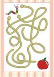 Labyrint eller labyrintlek för förskole- barn (6) Arkivbilder
