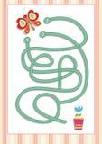 Labyrint eller labyrintlek för förskole- barn (7) Royaltyfri Bild
