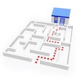 Labyrint en Huis Royalty-vrije Stock Afbeelding