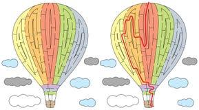 Labyrint för ballong för varm luft Royaltyfria Foton