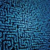 Labyrint för binära data Royaltyfria Bilder