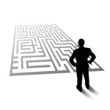 Labyrint för blick för affärsman Royaltyfria Foton