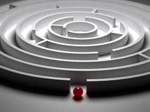 labyrint för cirkulär 3D Arkivbilder