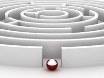 labyrint för cirkulär 3D Royaltyfria Foton