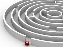 labyrint för cirkulär 3D Arkivfoton