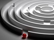 labyrint för cirkulär 3D Fotografering för Bildbyråer