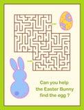 Labyrint för jakt för påskägg eller labyrintlek för barn Royaltyfria Bilder