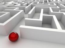 labyrint för stål 3D Stock Illustrationer