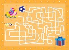 labyrint Gift vind dat in de doos is Stock Afbeelding