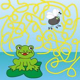 Labyrint - groda och fluga royaltyfri illustrationer