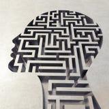 Labyrint in het hoofd het 3d teruggeven stock foto
