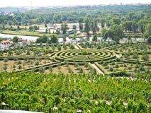 Labyrint, Kasteel Troja, Tsjechische Republiek Royalty-vrije Stock Afbeelding