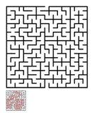 Labyrint labyrintgåta för ungar Arkivfoto