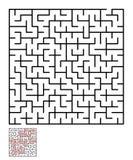 Labyrint, labyrintraadsel voor jonge geitjes Stock Afbeelding