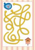 Labyrint of Labyrintspel voor Peuterkinderen (5) Stock Afbeelding