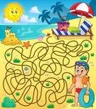 Labyrint 28 med strandtema 2 Royaltyfri Fotografi