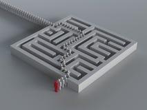 Labyrint met leiding stock illustratie