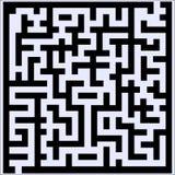 Labyrint met sommige verkeerde manieren en één uitgang Stock Fotografie