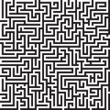 Labyrint naadloos vectorpatroon Stock Foto's