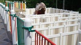 Labyrint op de Dinosaurusplaats in Connecticut stock foto's