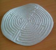 Labyrint på tabellen Royaltyfria Foton