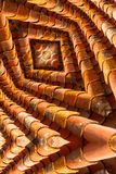 Labyrint som bild av taktegelplattor Arkivfoton