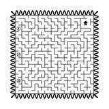 Labyrint - stolpestämpel Royaltyfri Bild