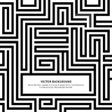 Labyrint-svart-vit-bakgrund-din-meddelande Arkivbild