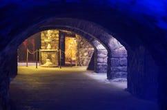 Labyrint van Buda Castle, Boedapest stock foto's