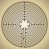 Labyrint van de kathedraal van Chartres, Frankrijk royalty-vrije illustratie