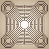 Labyrint van de kathedraal van Reims, Frankrijk vector illustratie
