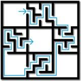 Labyrint van de Verbonden Achtergrond van Oplossingen Stock Afbeeldingen
