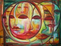 Labyrint van gezichten Stock Fotografie