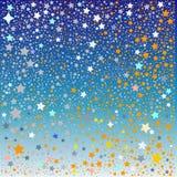 Labyrint van sterren op blauw Royalty-vrije Stock Fotografie