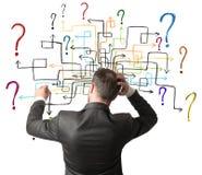 Labyrint van vragen Stock Foto's
