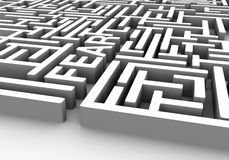 Labyrint van vrees stock illustratie