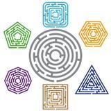 Labyrint zeven vector illustratie