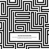 Labyrint-zwart-wit-achtergrond-uw-bericht Stock Fotografie