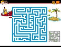 Labyrintaktivitet för barn royaltyfri illustrationer