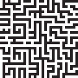 Labyrintbakgrund, sömlös modell, vektor Arkivbild
