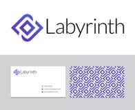 Labyrintembleem Stock Fotografie
