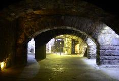 Labyrinten av Buda Castle Royaltyfri Foto